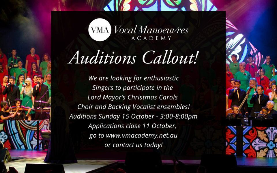 Lord Mayors Christmas Carols Auditions Callout